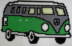 Bulli - VW Typ2 T1 van hama beads by Manondu15