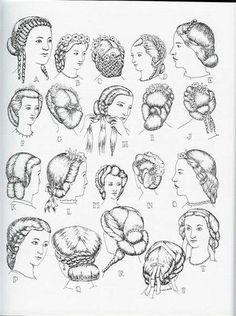 Coiffures vers 1860