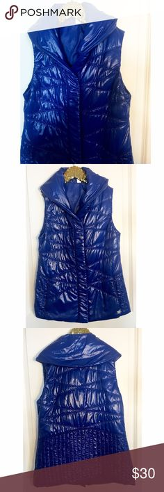 Lucy blue zip up activewear vest Only worn once, like new condition! No flaws. Material- body (100% nylon) lining (100% polyester) Lucy Jackets & Coats Vests