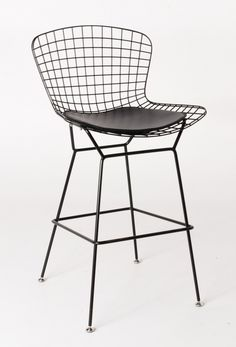Milano Republic Furniture - Replica Harry Bertoia Wire Bar Stool - 71cm - Black Powdercoat - various colour cushions, $139.00 (http://www.milanorepublicfurniture.com.au/replica-harry-bertoia-wire-bar-stool-71cm-black-powdercoat-various-colour-cushions/)