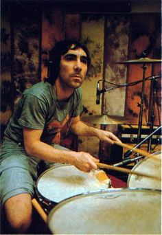 Keith Moon - definitely my favourite pre-1980's drummer, from the classic rock era.  The guy's fills were totally nutty and spastic!  Awesome energy and groove too...