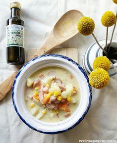 Hver gang vi spiser: Bli-frisk-suppe med rotgrønnsaker, pølse og chedda...