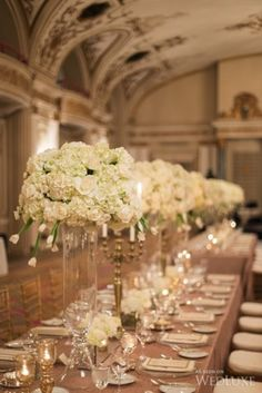 Tablescape | A luxe, winter #wedding at Ottawa's Fairmont Château Laurier | #FairmontWeddings | WedLuxe