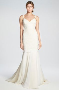 Katie May 'Monaco' Lace & Chiffon Trumpet Gown available at #Nordstrom