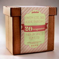 #emballage #packagink #food #recipe #box Embalagem/ Texto