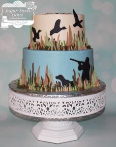 Duck Hunting - Cake by Sugar Sweet Cakes                                                                                                                                                                                 More