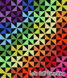 Lets Quilt Something: Rainbow Pinwheels - Michael Miller Batiks - Layer Cake