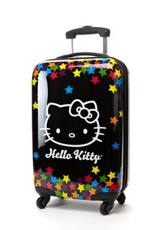 Hello Kitty Falling Stars Travel Carry on Luggage Hello Kitty Suitcase, Hello Kitty Shoes, Hello Kitty Accessories, Hello Kitty Bag, Hello Kitty Items, Kitty Kitty, Hello Kitty Merchandise, Carry On Luggage, Girls Luggage