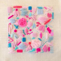 fibrearts:Elizabeth Pawle's scattering embroideries remind me of...
