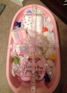 59 Trendy Baby Bath Gift Basket For Kids Regalo Baby Shower, Baby Shower Gift Basket, Baby Shower Gifts For Boys, Baby Girl Gifts, Baby Shower Parties, Baby Shower Themes, Shower Baby, Unique Baby Shower Gifts, Baby Showers
