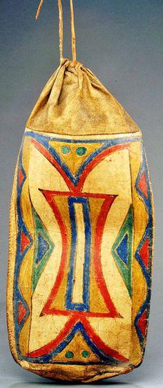 parfleche boxes | native american, America, A polychrome-painted hide parfleche bag. Of ...
