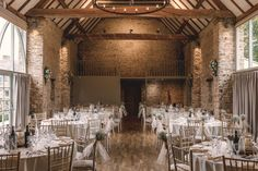Barn Wedding Venue in Oxfordshire. The Great Barn is an century spacious double stone barn set in 250 acres of beautiful farmland and grounds. Wedding Venues Uk, Barn Wedding Venue, Our Wedding Day, Perfect Wedding, Barn Weddings, Stone Barns, Civil Ceremony, Ceiling Beams, Bars For Home