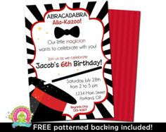 Magic Party Birthday Magic Birthday by AmandasPartiesToGo on Etsy