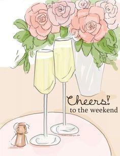 rose hill designs by heather stillufsen Hello Weekend, Happy Weekend, Happy Friday, Weekend Fun, Weekend Vibes, Illustrations, Illustration Art, Rose Hill Designs, Weekend Quotes
