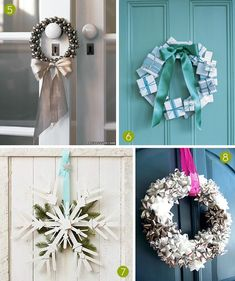 A big list of links to different DIY wreath designs! - curbly.com