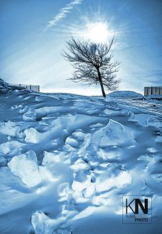 Winter in the Rhön, Germany