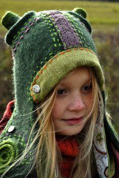 hat Nice use of stitch with felt