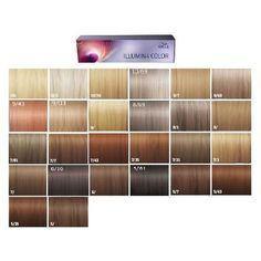 Wella professionals illumina color shades palette 34 shades