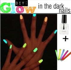 3 Ways to get glow in the dark nails. #DIY tutorial collection AWESOME