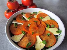 Persimmon Brie Salad Persimmon Recipes, Brie, Thai Red Curry, Cantaloupe, Salads, Favorite Recipes, Snacks, Meals, Healthy
