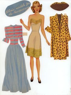 Gloria Powers | Gabi's Paper Dolls