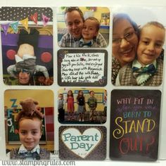 Stamping Rules!: Day 193: Childhood Pocket Scrapbook Layout