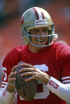 Quarterback Joe Montana #16 of the San Francisco 49ers.  He played for the 49ers from 1979-92