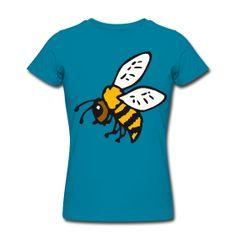 T-Shirts ~ Frauen T-Shirt von American Apparel ~ flower power biene