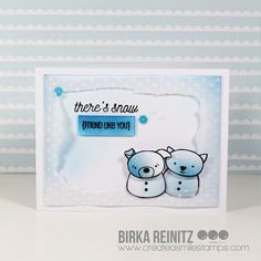 Schnee, Snow, Card, Karte, Animal, Tiere