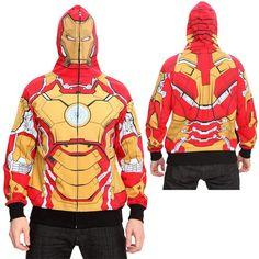 Iron Man 3 Mark 42 Full Zipper Costume Hoodie