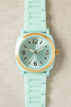 anthropologie watch with notes of sea foam, mint greens
