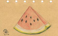 Küchengeheimnis #14 - Melone reif?  So findest du heraus, ob eine Wassermelone schon reif ist...  www.kuechencottage.de #küchengeheimnis #melone #reif #tipps #tricks #küche #food #foodblog #test #obst #vintage #zeichnung