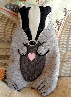 Badger hot water bottle cover.
