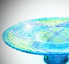 From Jassad on Etsy , Cake Pedestal  Glass Cake Plate Glass Cake Pedestal