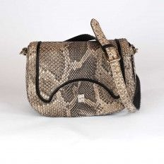 Cross-bag in genuine front-cut python leather. Made in Italy by GLENI