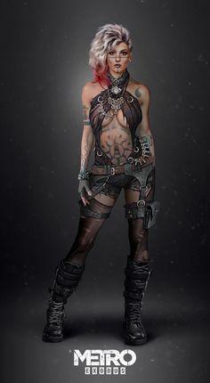 A arte do jogo Metro: Exodus - Geekness Post Apocalyptic Art, Apocalyptic Fashion, Female Character Concept, Character Art, Apocalypse Character, Top Imagem, Arte Cyberpunk, Character Portraits, Fantasy Girl