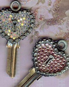 open your heart as well as your door... the key to my heart house key blank... covered with over 100 swarovski crystals... have one cut to open the door to your own castle  keystomycastle.com
