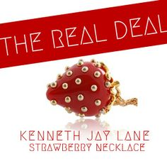 Quiet Lion Creations: Kenneth Jay Lane Strawberry Necklace