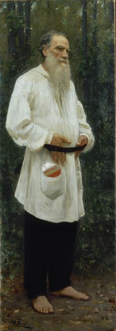 Ilya Repin - Leo Tolstoy barefoot, 1901