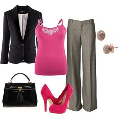 Work In Style, created by alanad23 on Polyvore