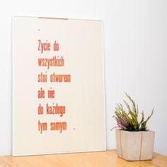 Plakat Życie, Zbieranowski/Fajne Chłopaki