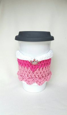 Sleeping Beauty Cup Cozy/Sleeve by MagicalAdornments on Etsy