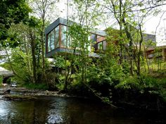 Ty-Hedfan is a Partially-Buried Welsh Longhouse Near the Brecon Beacons National Park Ty-Hedfan House by Featherstone Young – Inhabitat - Sustainable Design Innovation, Eco Architecture, Green Building Amazing Architecture, Contemporary Architecture, Landscape Architecture, Interior Architecture, Interior And Exterior, Residential Architecture, Exterior Homes, Architecture Wallpaper, Amazing Buildings