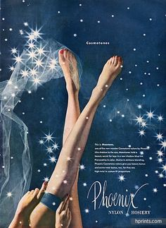 Phoenix (Hosiery, Stockings) 1951 — Lingerie — publicité ancienne originale