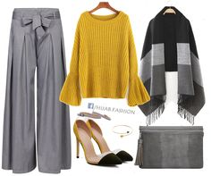 Office Outfit Idea - Yellow Theme