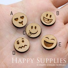 Laser Cut Wooden Beads for jewelry making supplies - Happy Jewelry Supplies