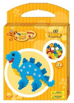 PERIZITITO: Πέρλες Maxi και βάση σε κουτί 350 τεμ. Δεινοσαυράκια: Hama: Παιχνίδια: 028178876678: Array