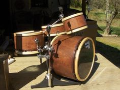 Whitney drums - custom kit that fits into 2 gig bags