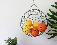 Hanging Wire Sphere Basket