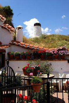 Barrio de las  Cuevas, Guadix. Granada, Andalucia, España